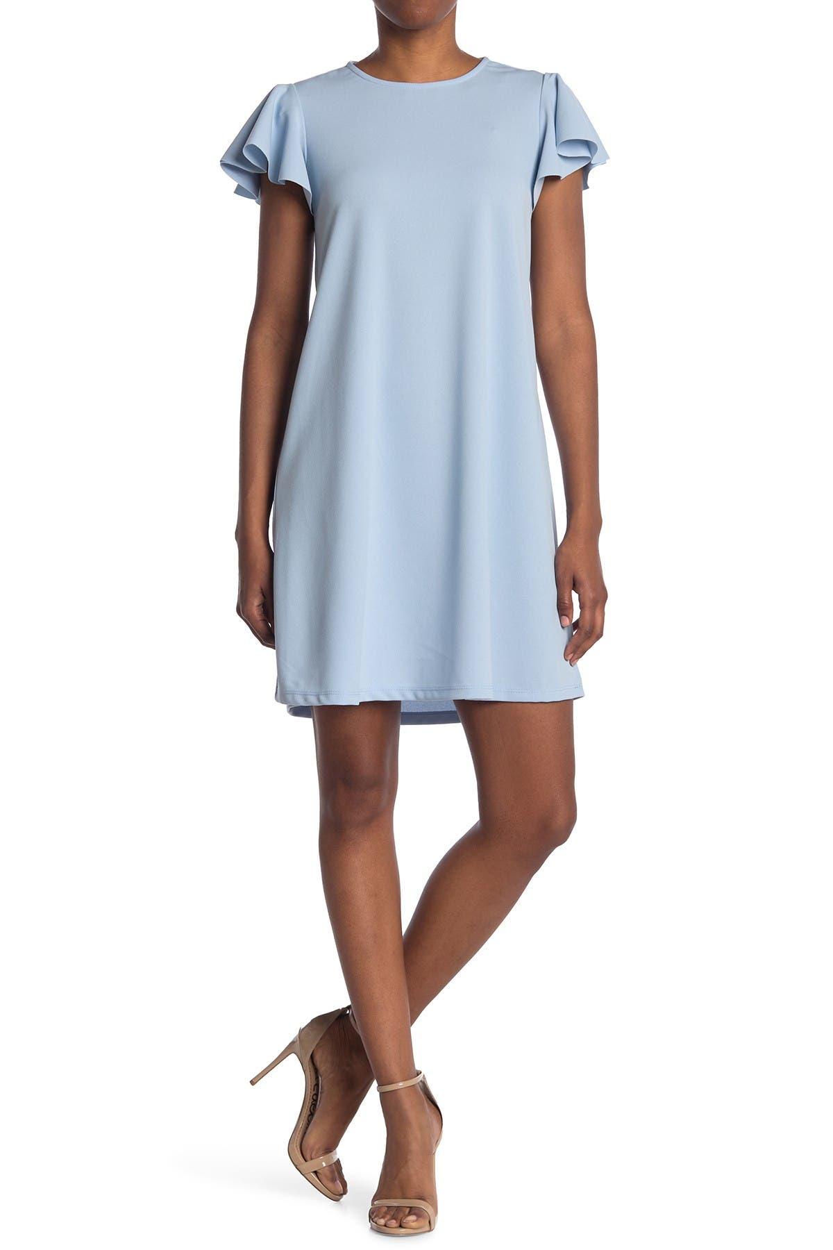 Image of TASH + SOPHIE Flutter Sleeve Shift Dress