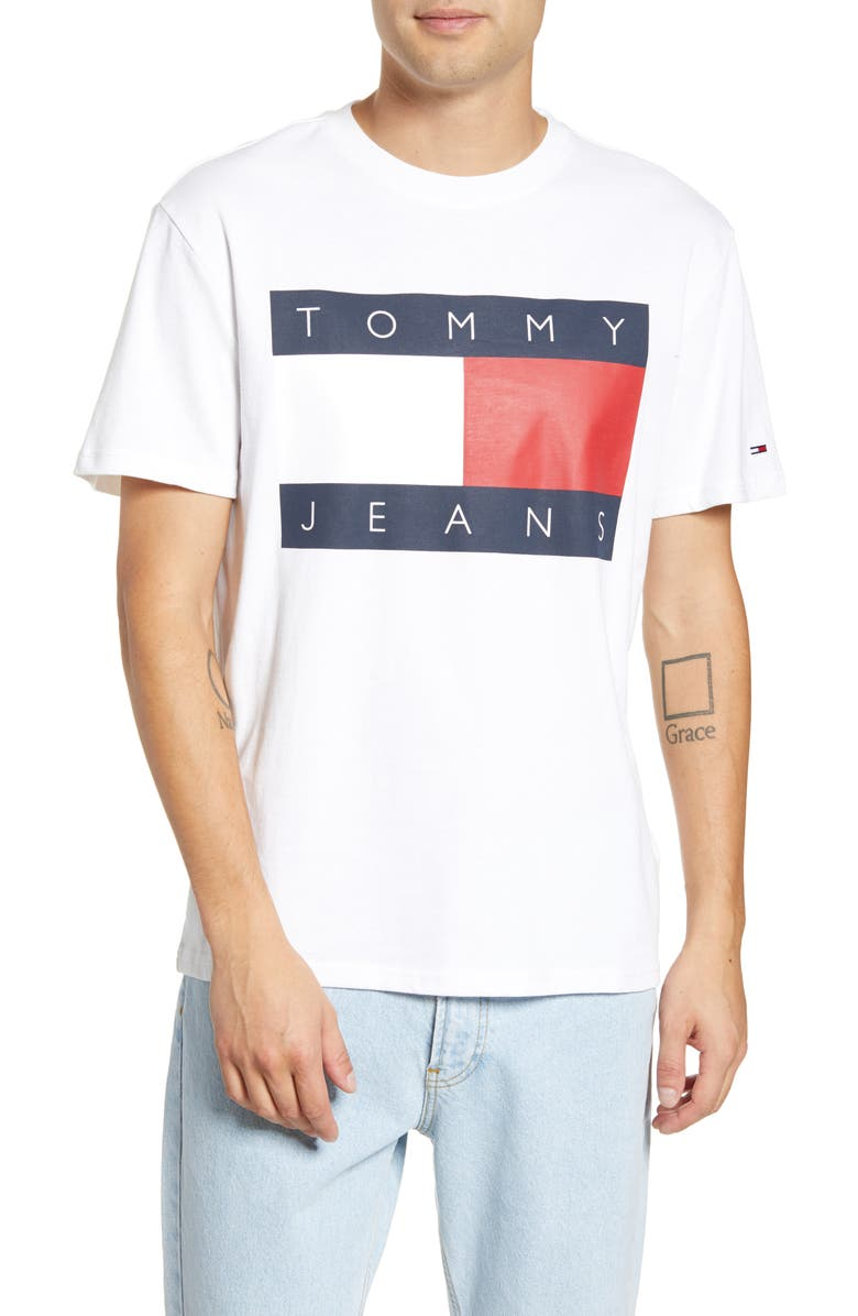 Tjm Tommy Flag Graphic T Shirt by Tommy Jeans