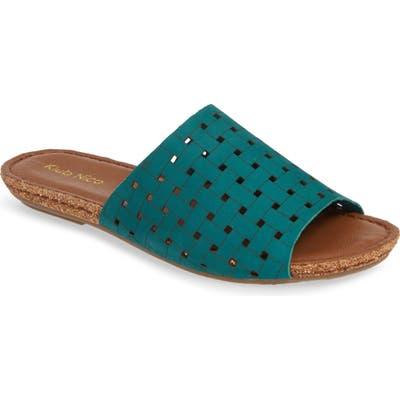 Klub Nico Gratzie Woven Slide Sandal, Green