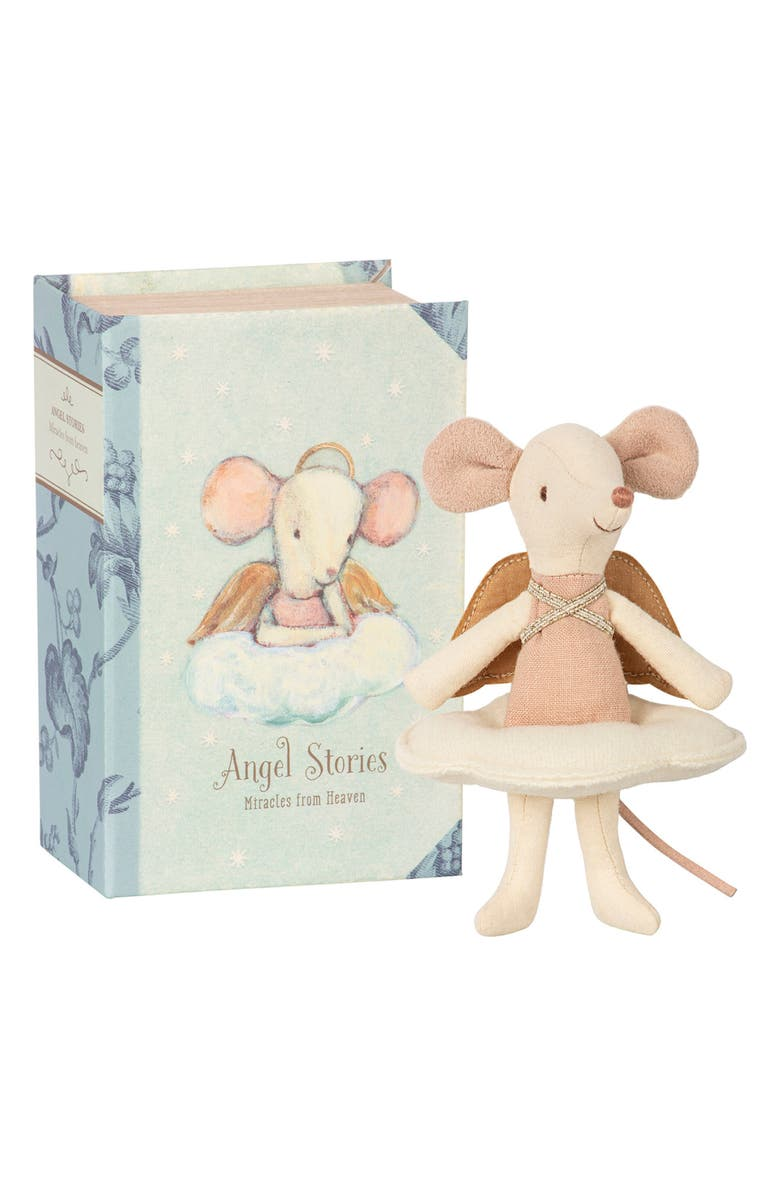 MAILEG Angel Mouse in a Book, Main, color, MULTI