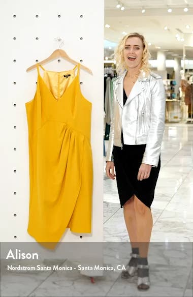 Curve Naima Ruched Asymmetrical Cocktail Dress, sales video thumbnail