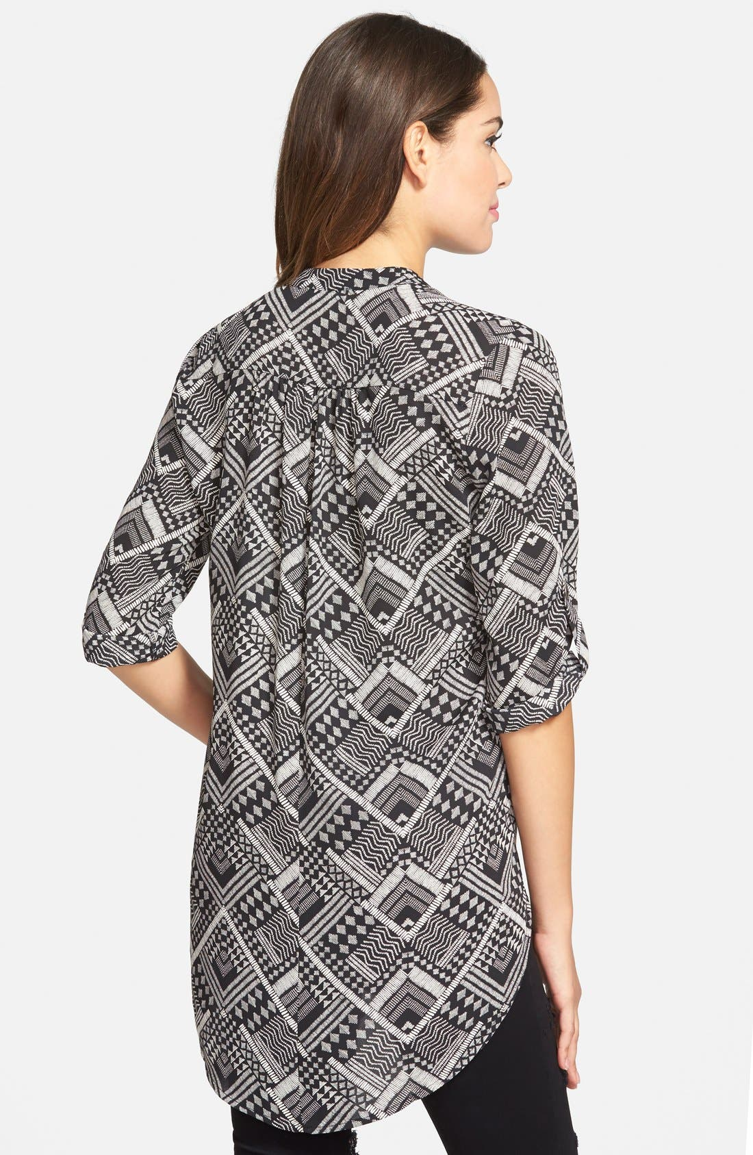 ,                             Perfect Roll Tab Sleeve Tunic,                             Alternate thumbnail 172, color,                             003