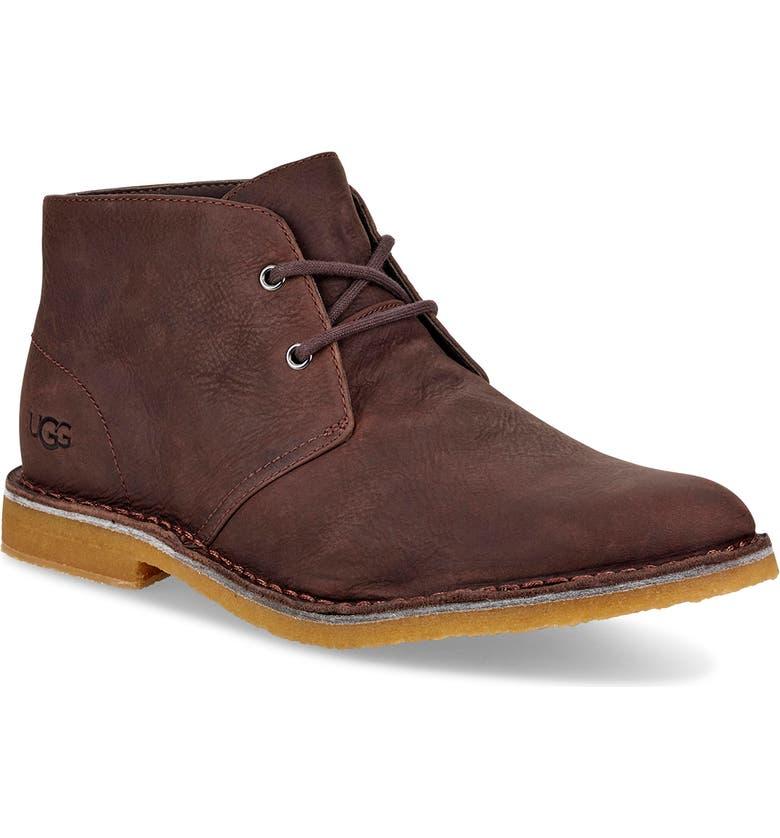UGG<SUP>®</SUP> Groveland Chukka Boot, Main, color, GRIZZLY