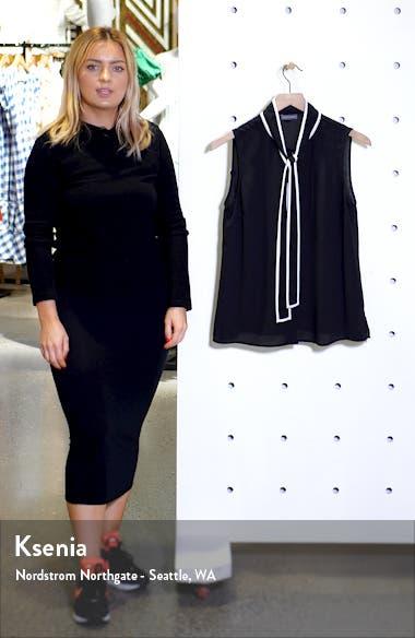 Contrast Tie Neck Blouse, sales video thumbnail