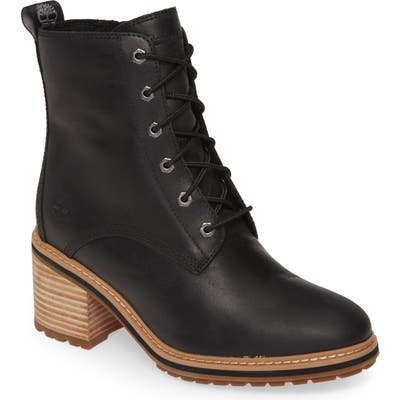 Timberland Sienna Waterproof Lace-Up Boot- Black