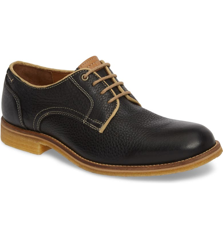 J&M 1850 Howell Plain Toe Derby, Main, color, BLACK LEATHER