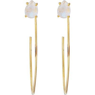 Adornia Convertible Hook Hoop Moonstone Earrings