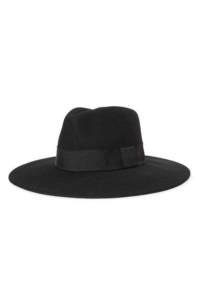 BRIXTON Joanna Felted Wool Hat, Main, color, BLACK