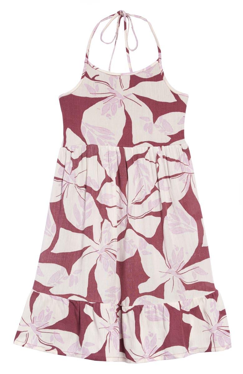 O'NEILL Ryann Print Halter Dress, Main, color, DUSTY TULIP