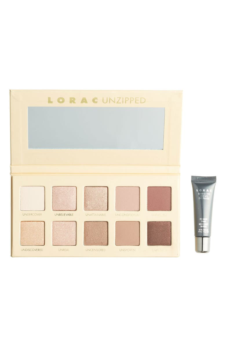 LORAC Unzipped Shimmer & Matte Eyeshadow Palette Set, Main, color, 650