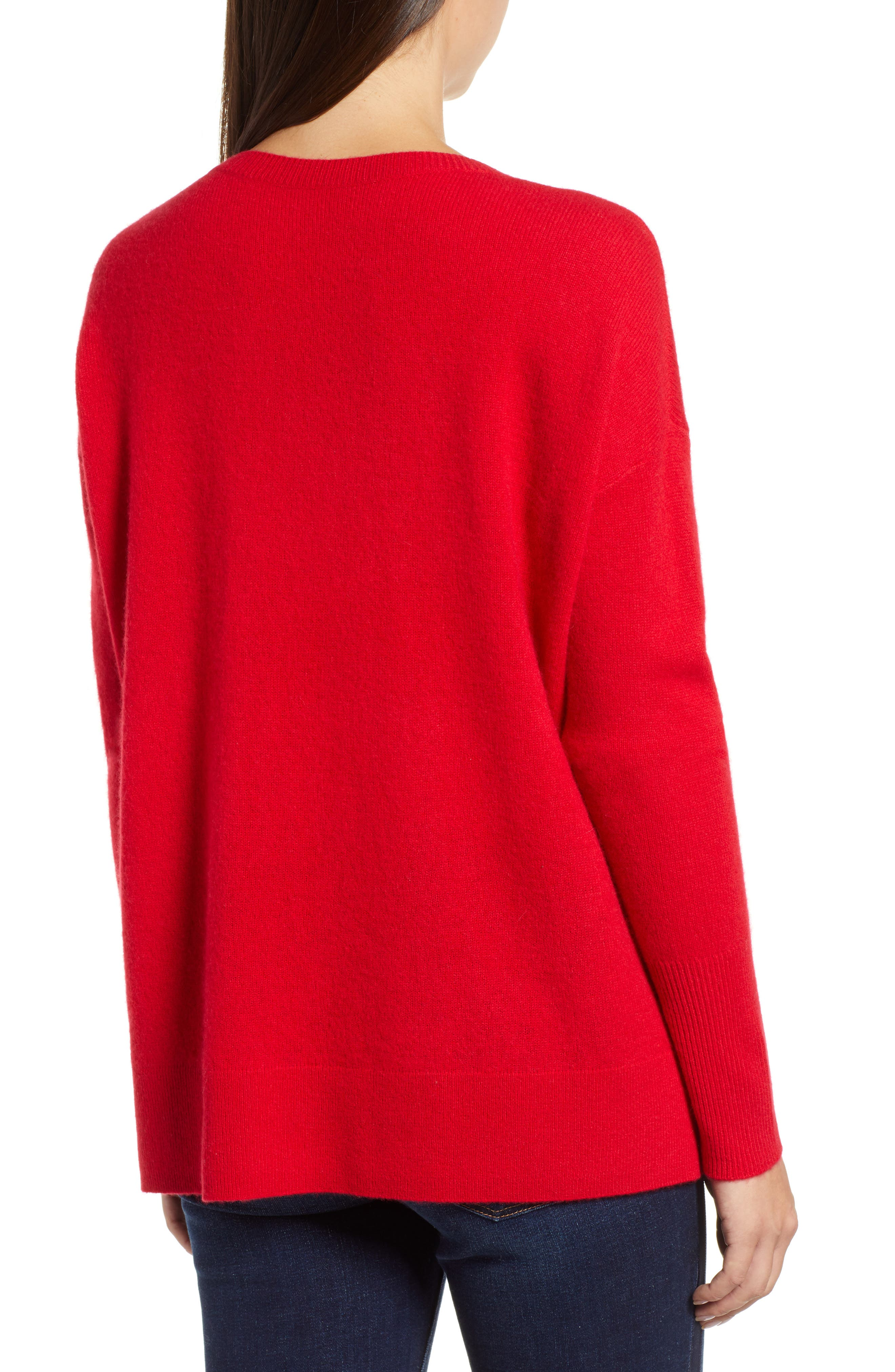 ,                             Relaxed V-Neck Cashmere Sweater,                             Alternate thumbnail 58, color,                             610