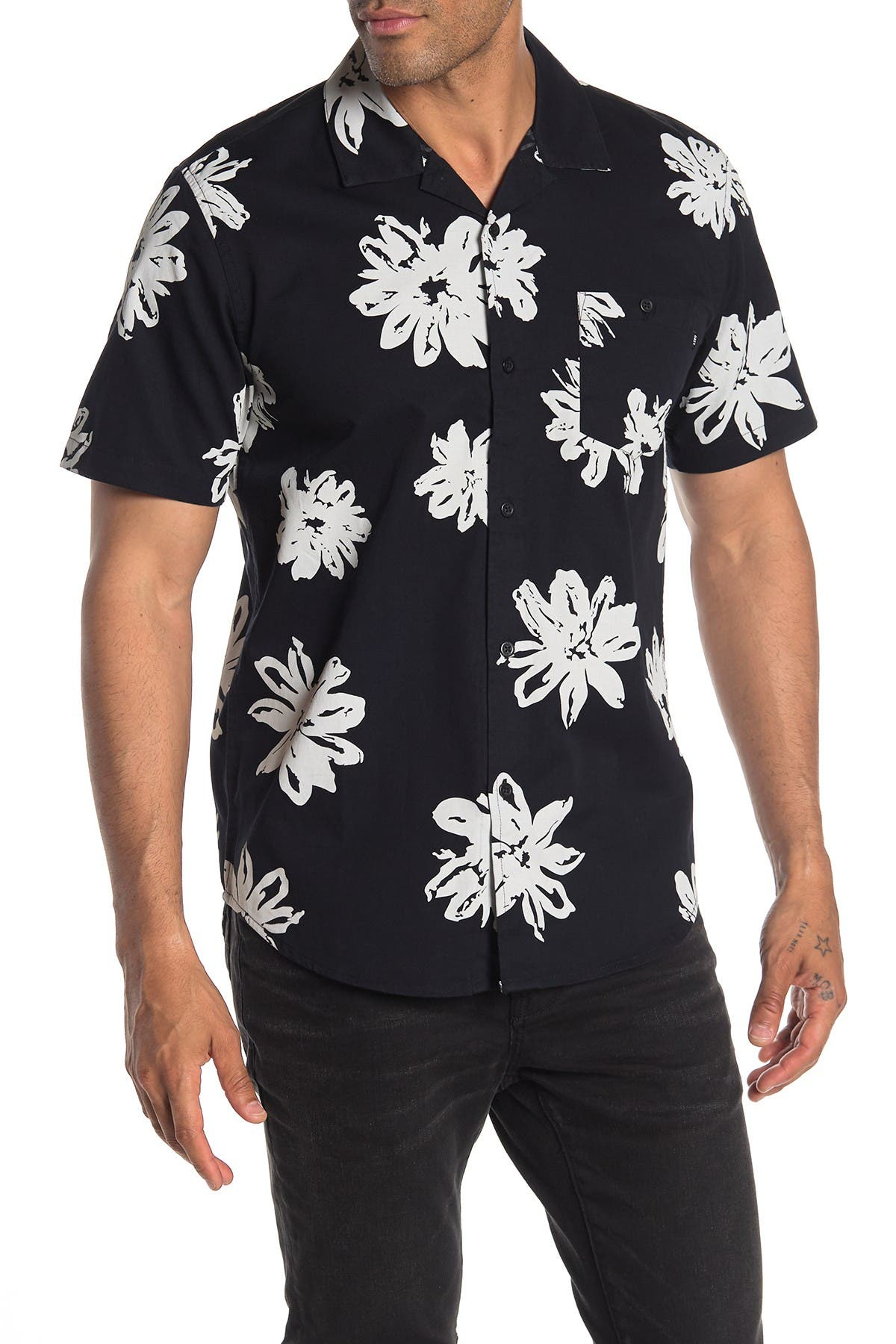 Image of Obey Logan Short Sleeve Floral Regular Fit Shirt