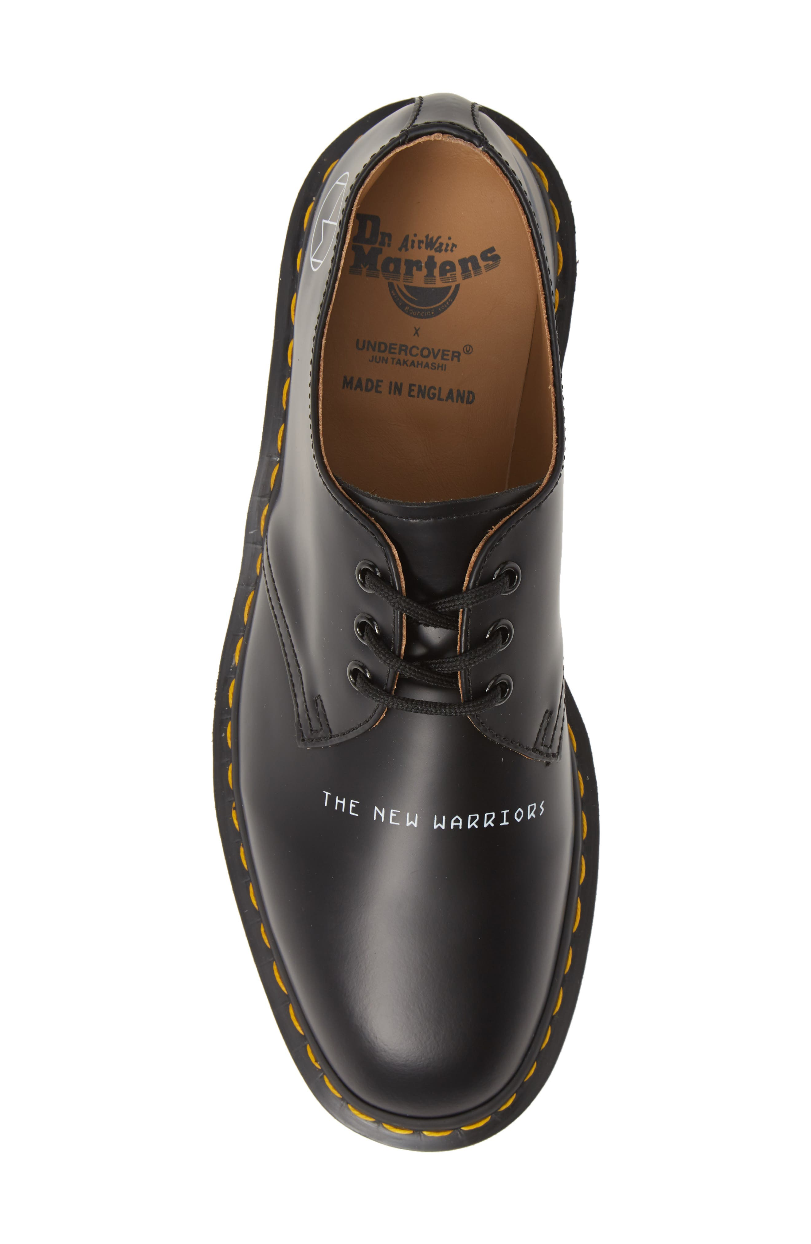 ,                             x UNDERCOVER 1461 Derby,                             Alternate thumbnail 5, color,                             BLACK LEATHER