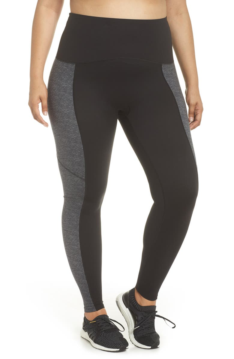 SPANX<SUP>®</SUP> Colorblock Active Leggings, Main, color, 029