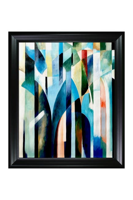 Image of Overstock Art Blue Curve - Framed Oil Reproduction of an Original Painting By Clive Watts