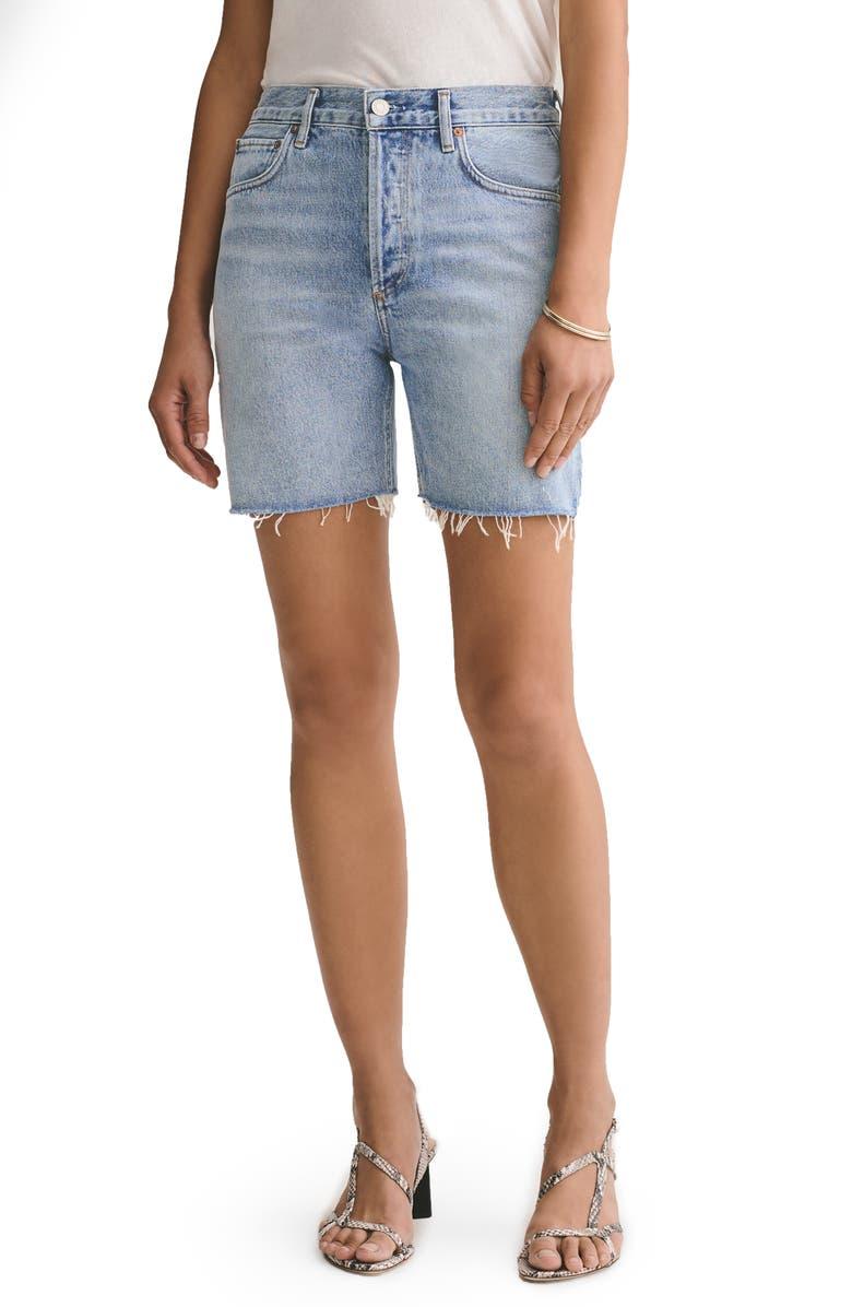 AGOLDE Rumi Denim Shorts, Main, color, RENEWAL