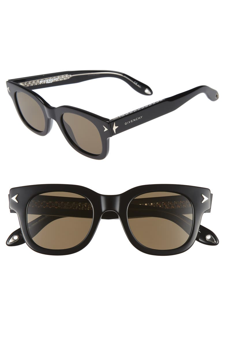 GIVENCHY 7037/S 47mm Sunglasses, Main, color, BLACK CRYSTAL