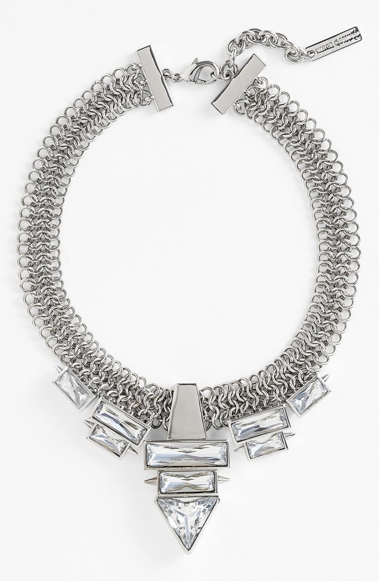VINCE CAMUTO 'Glam Punk' Mesh Frontal Necklace, Main, color, 040