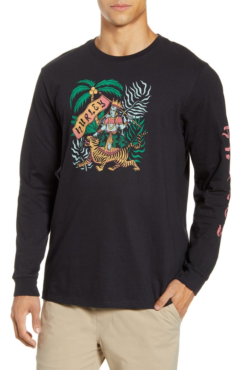 HURLEY Expedition Long Sleeve T-Shirt, Main, color, BLACK