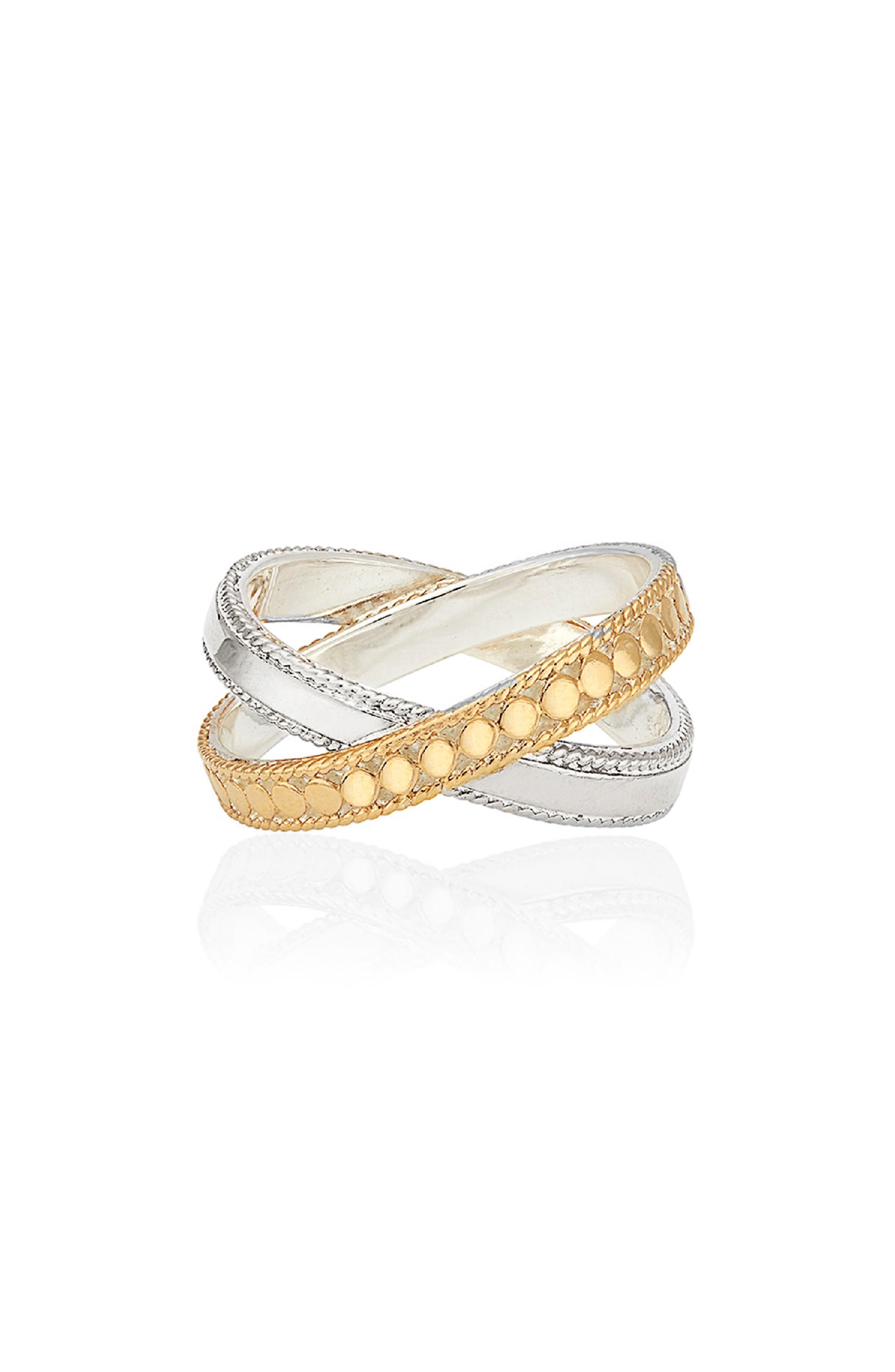 Two-Tone Crisscross Ring