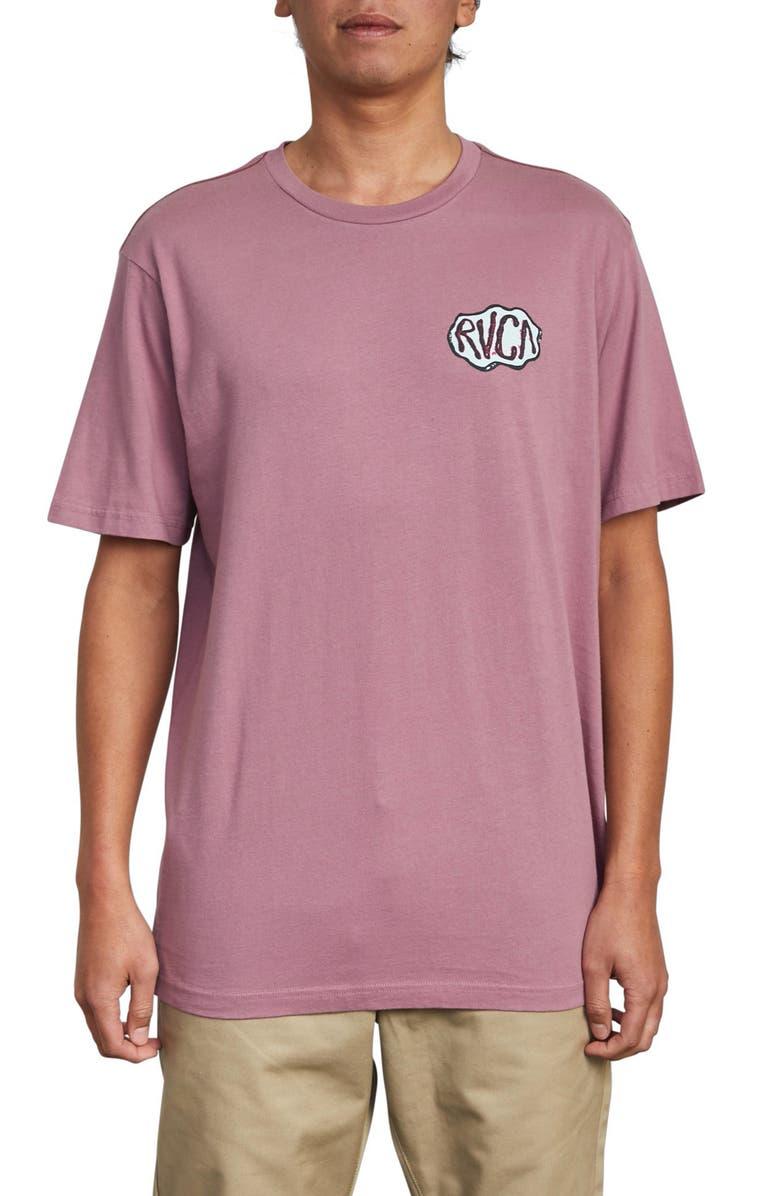 RVCA Corner Graphic T-Shirt, Main, color, MAUVE