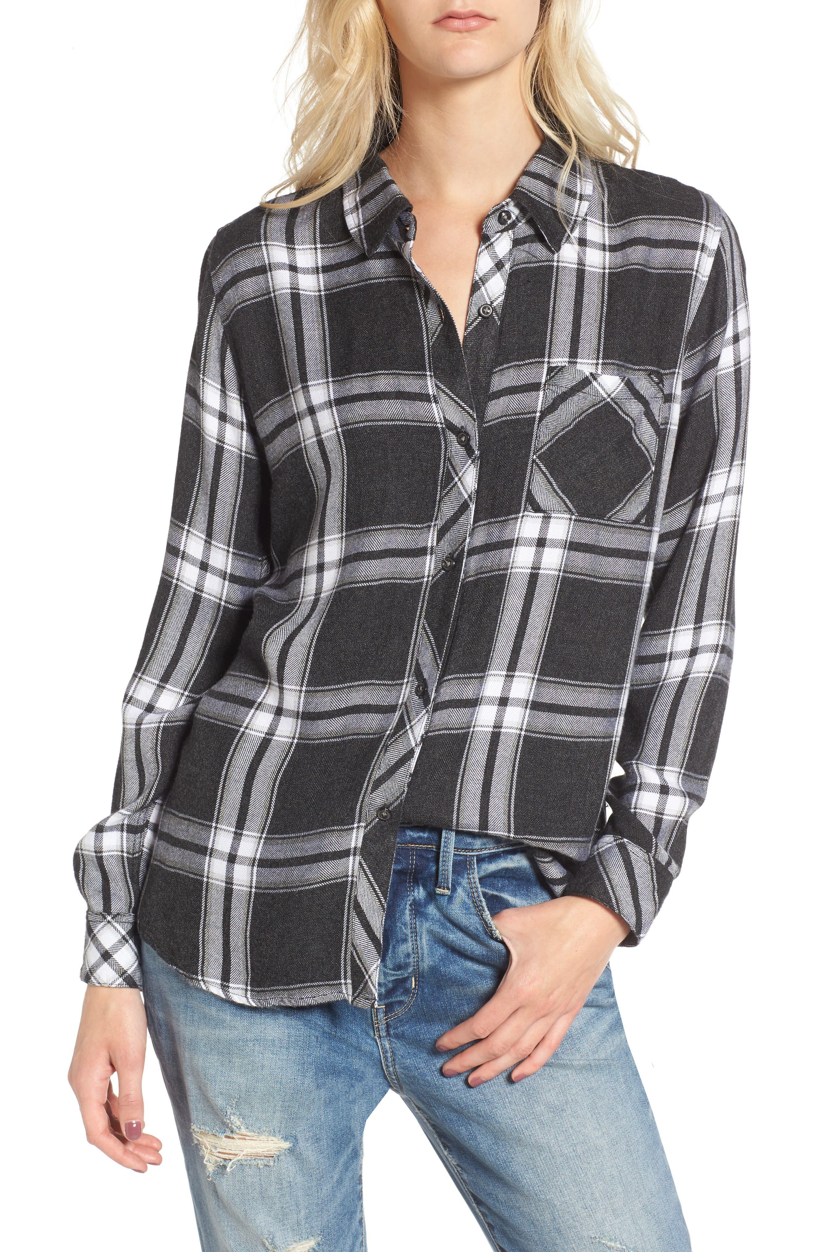 ,                             Hunter Plaid Shirt,                             Main thumbnail 519, color,                             013