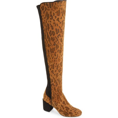 Cecelia Nikita Leopard Spot Over The Knee Boot- None