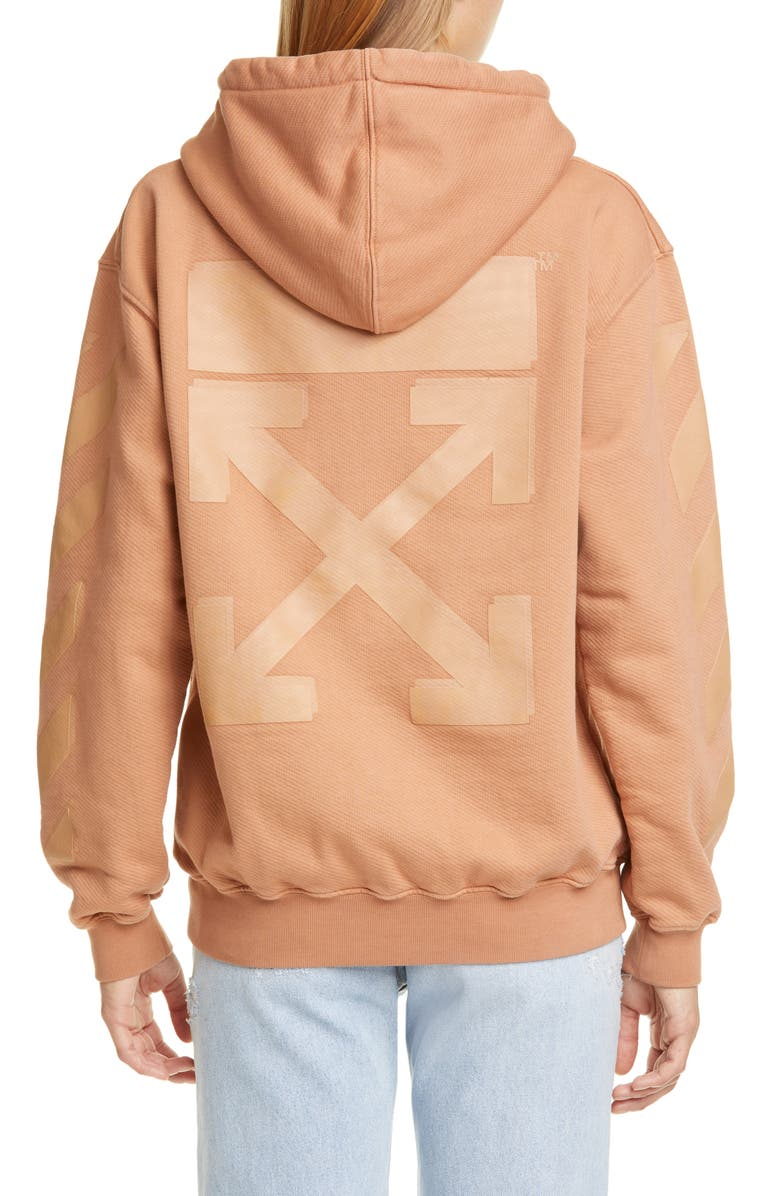 OFF-WHITE Diagonal Hoodie, Main, color, NUDE
