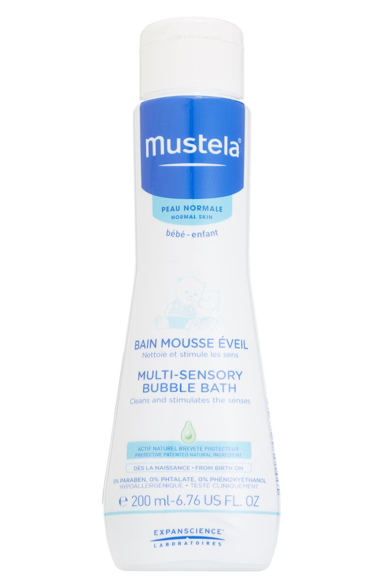 MUSTELA<SUP>®</SUP> Multi-Sensory Bubble Bath, Main, color, WHITE