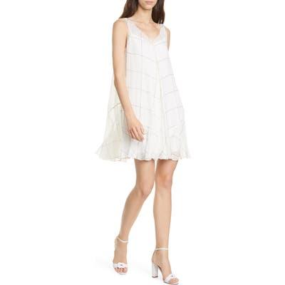 Club Monaco Windowpane Minidress, White