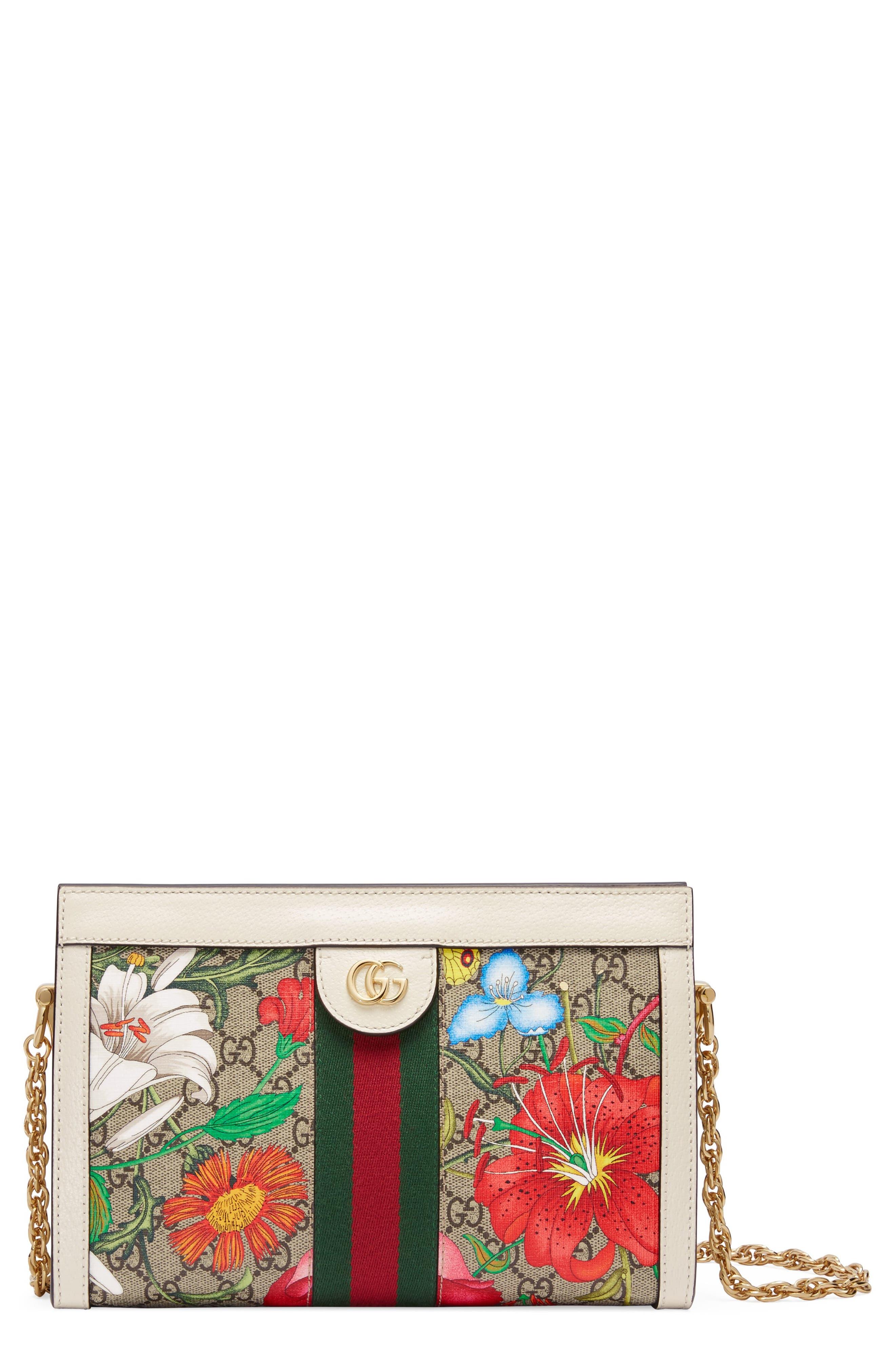 Gucci Small Ophidia Floral GG Supreme Canvas Shoulder Bag | Nordstrom