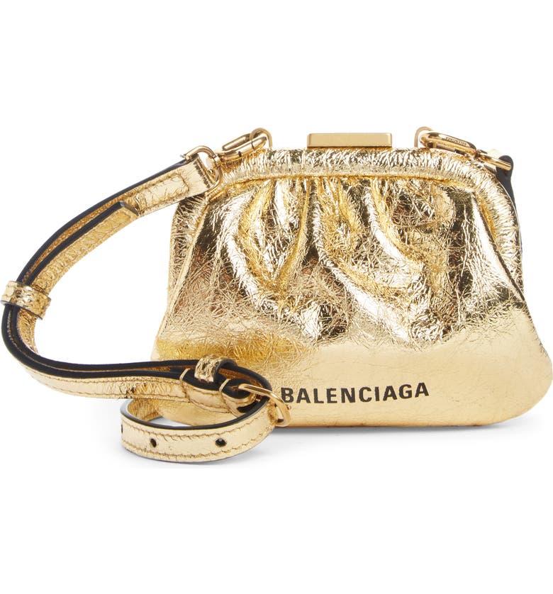 BALENCIAGA Cloud Coin Purse Crossbody Bag, Main, color, 711