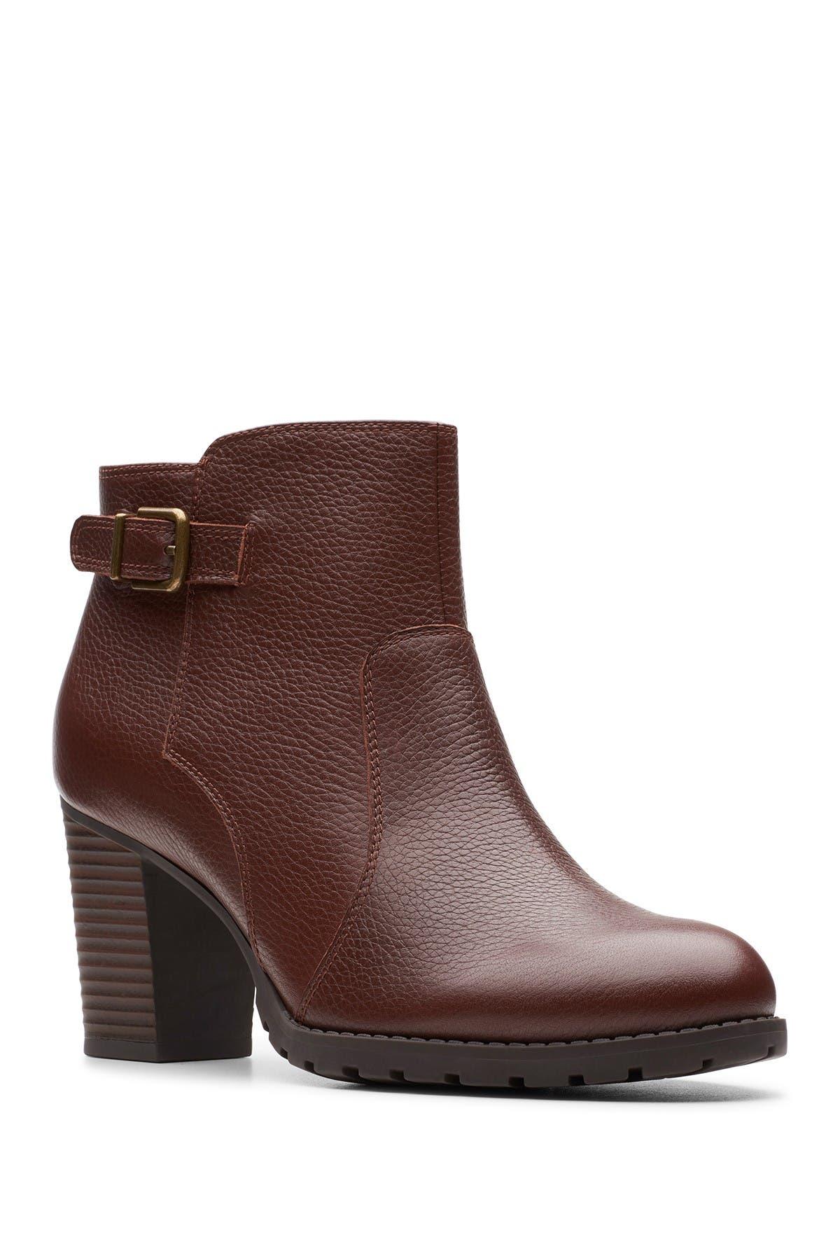 Image of Clarks Verona Gleam Leather Bootie