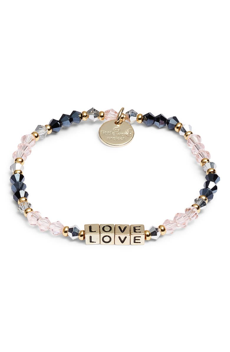 LITTLE WORDS PROJECT Love Bracelet, Main, color, BELLE GOLD