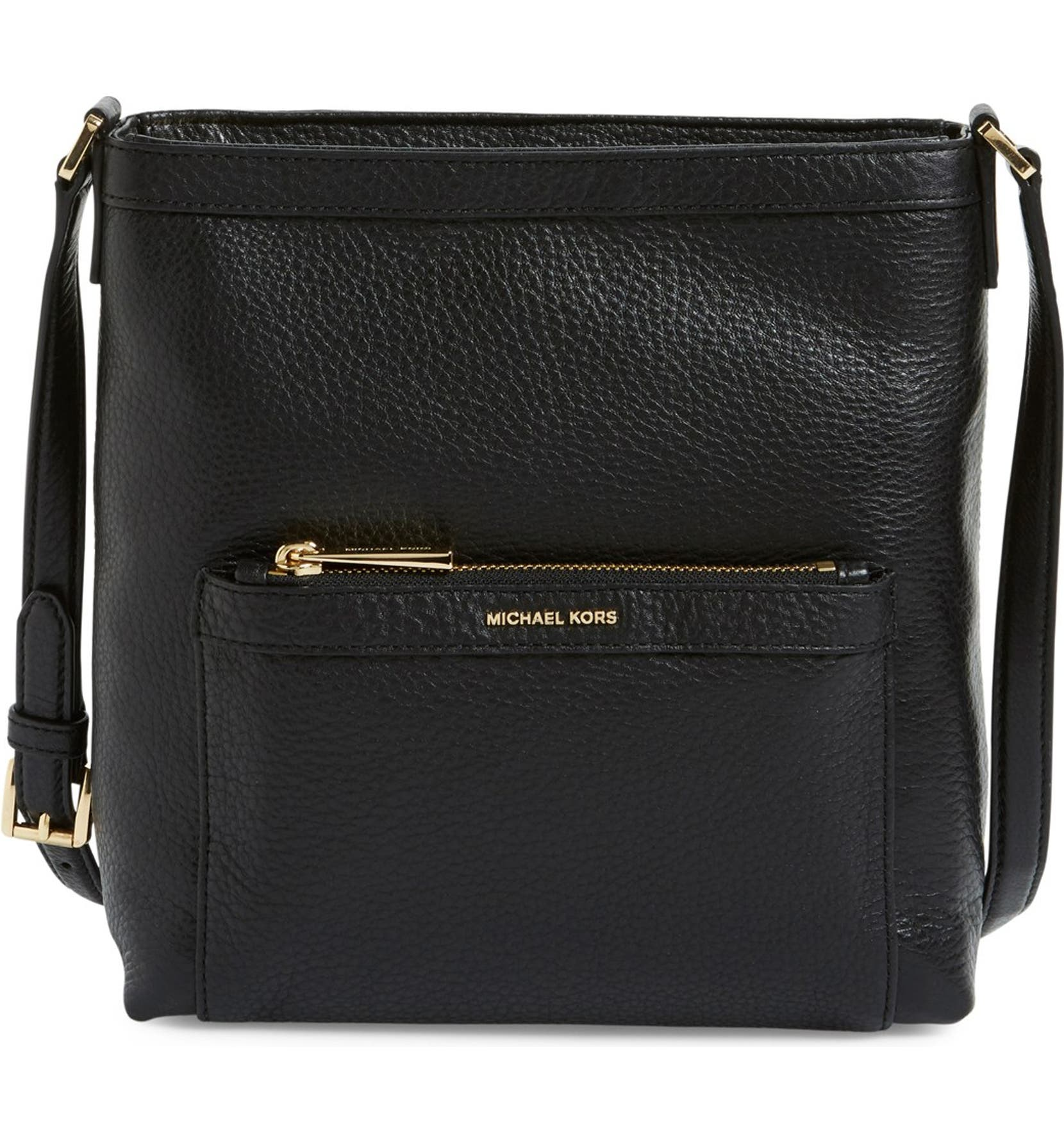 919b8128f049 MICHAEL Michael Kors 'Morgan' Leather Messenger Bag | Nordstrom