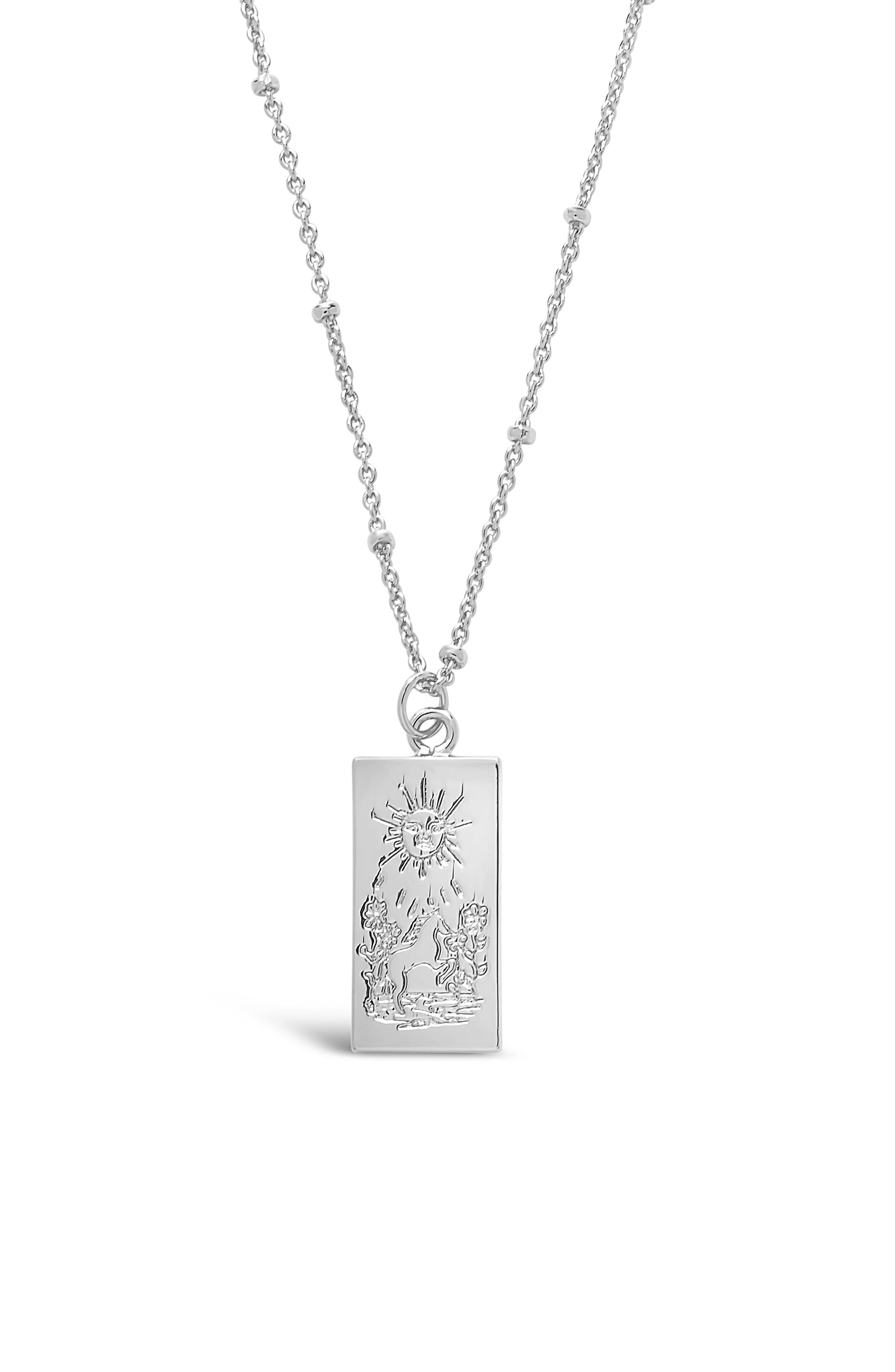 Bring good fortune and harmony to your daily life with a whimsical necklace designed with a sun-engraved pendant. Style Name: Sterling Forever Sun Pendant Necklace. Style Number: 6114453. Available in stores.