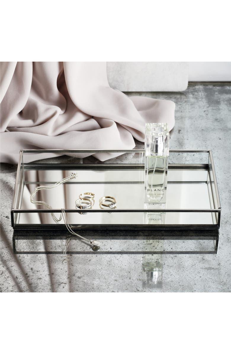 THE WHITE COMPANY Silvertone & Glass Tray, Main, color, SILVER