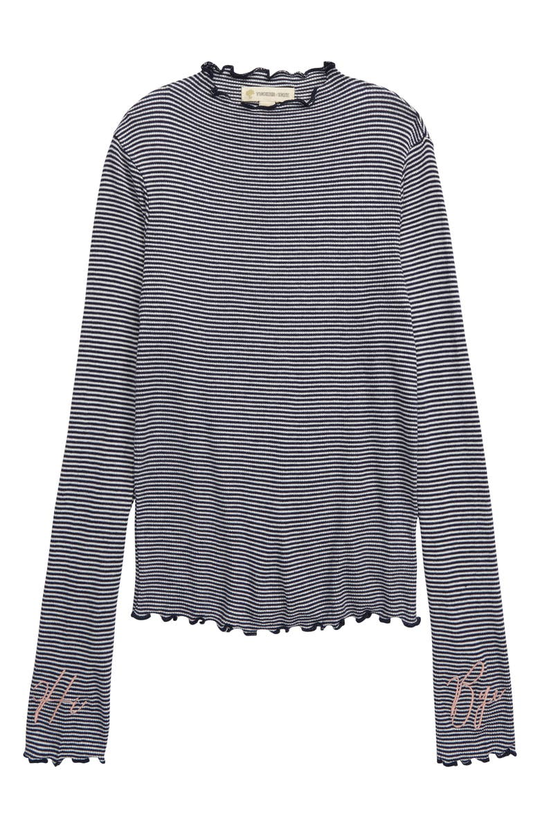 TUCKER + TATE Embroidered Ribbed Top, Main, color, 410