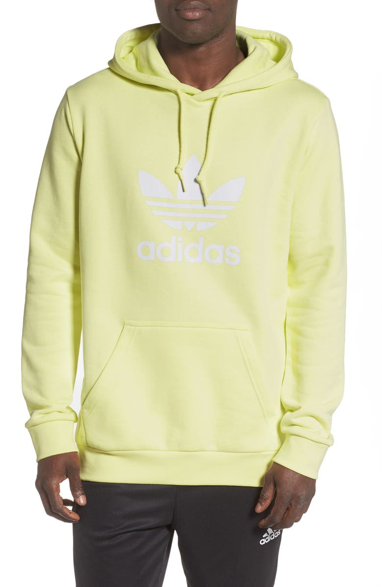 ADIDAS ORIGINALS Trefoil Hoodie, Main, color, ICE YELLOW
