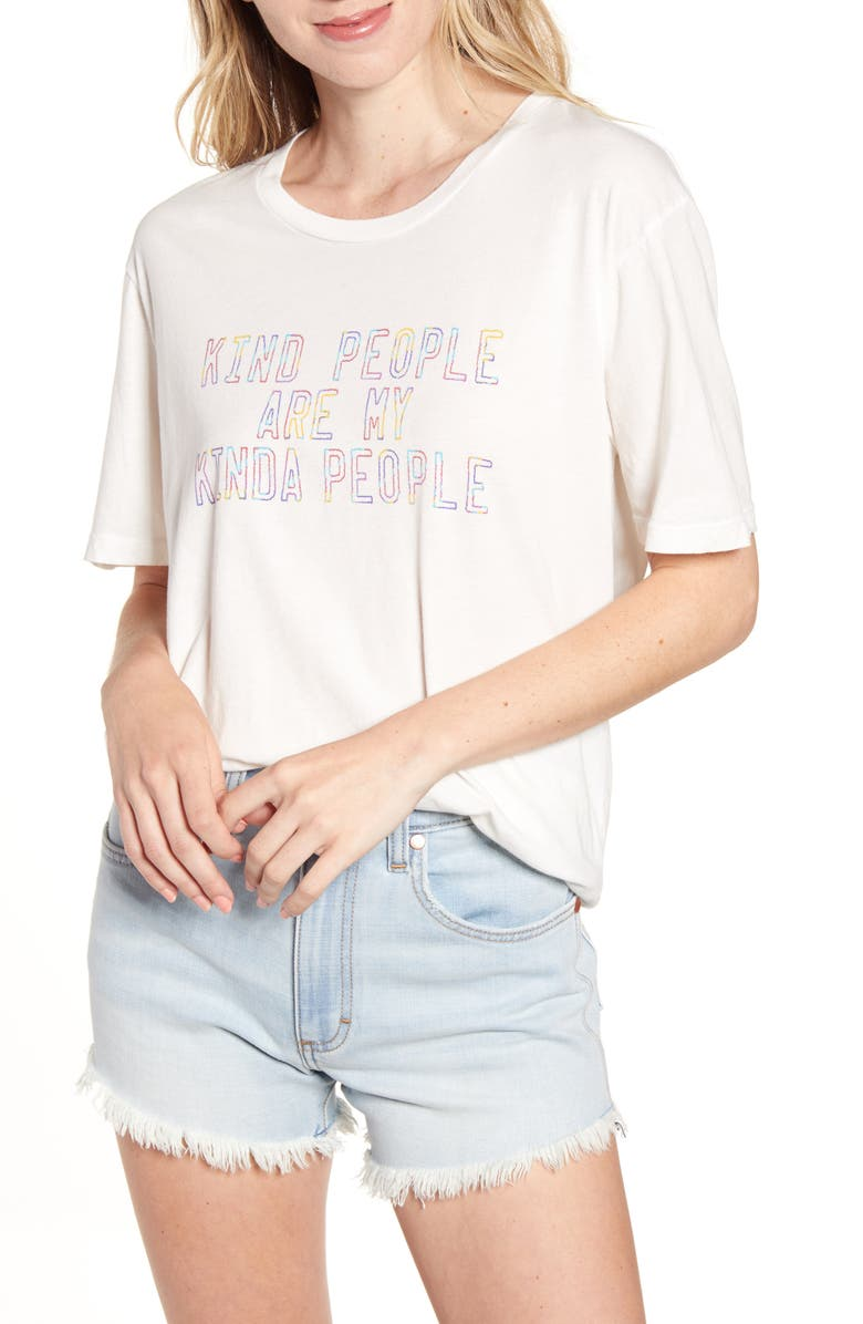PROJECT SOCIAL T Kind People Graphic Tee, Main, color, SNOWFLAKE