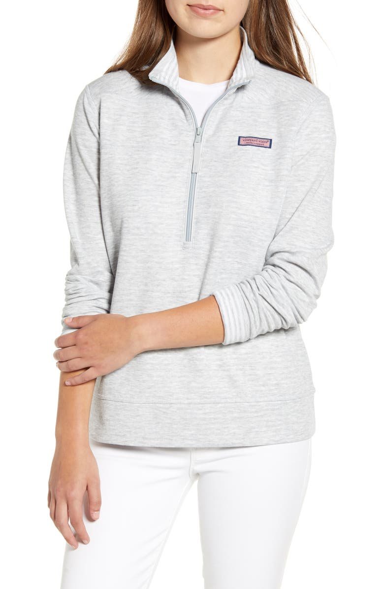 VINEYARD VINES Double Face Relaxed Shep Pullover, Main, color, 028