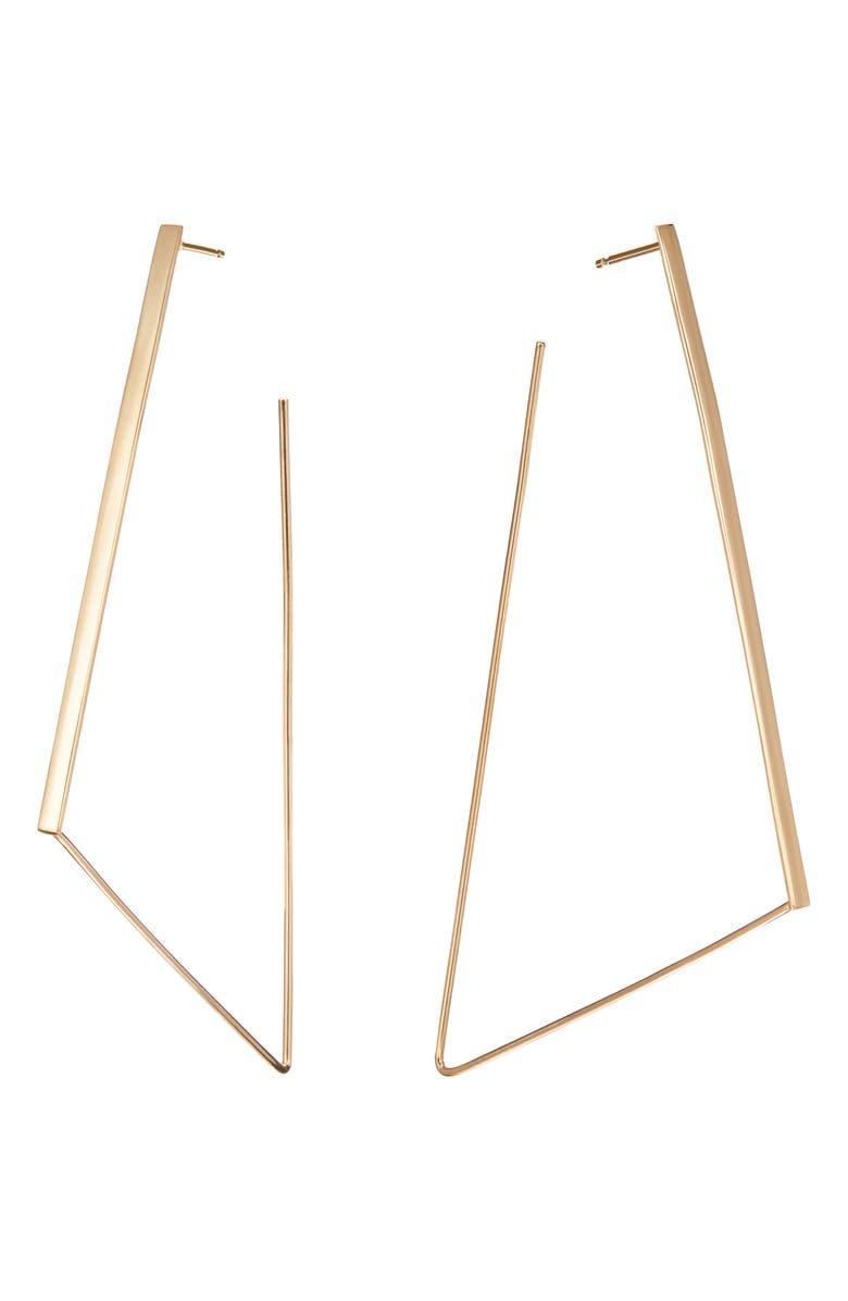 LANA JEWELRY Large Geometric Hoop Earrings, Main, color, YELLOW GOLD