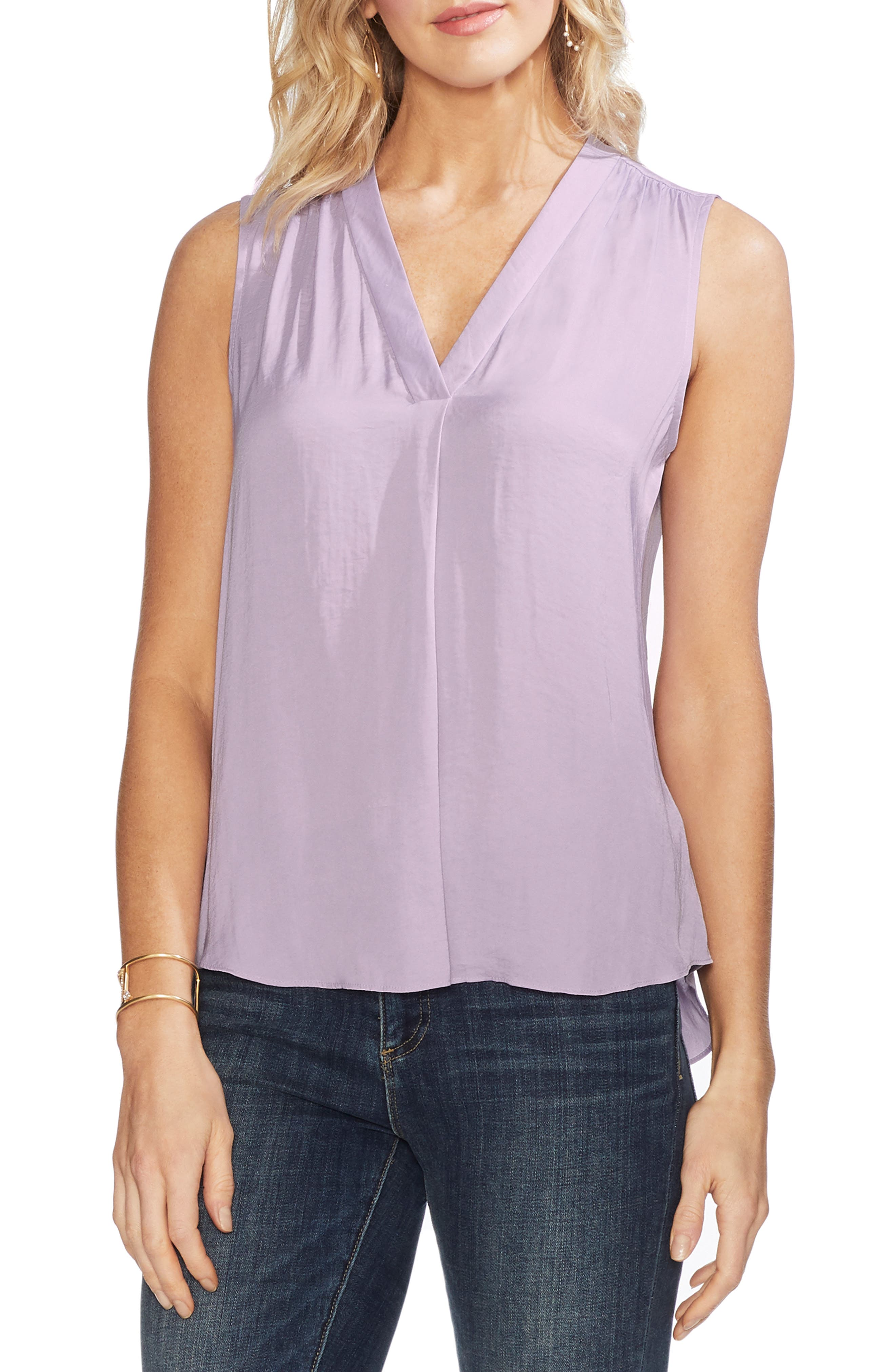 ,                             Rumpled Satin Blouse,                             Main thumbnail 48, color,                             522