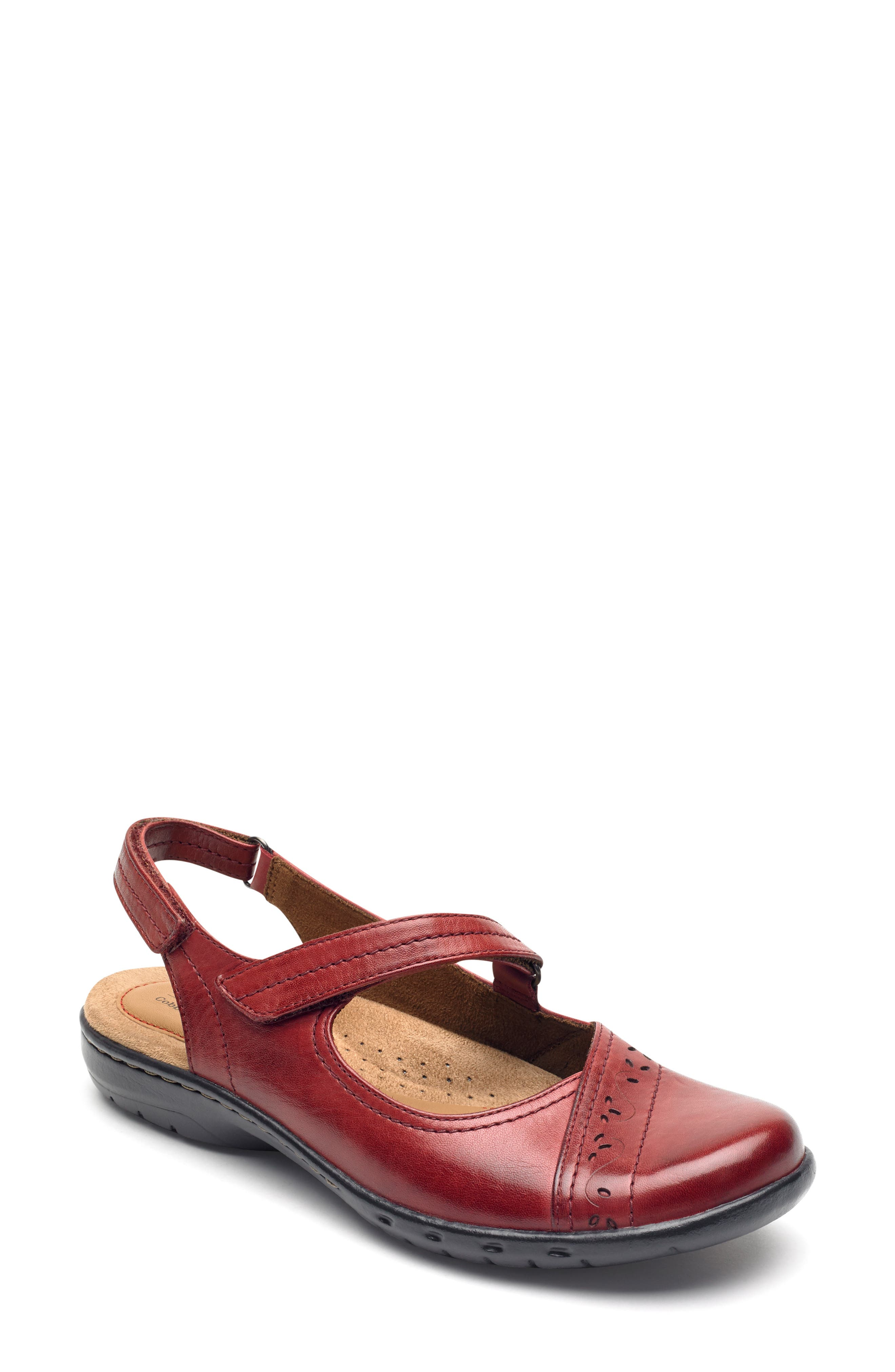 Rockport Cobb Hill Penfield Slingback Mary Jane- Red