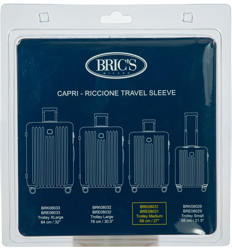 BRIC'S Transparent Custom Cover for 27-Inch Riccione/Capri Spinner Trunks, Main, color, CLEAR