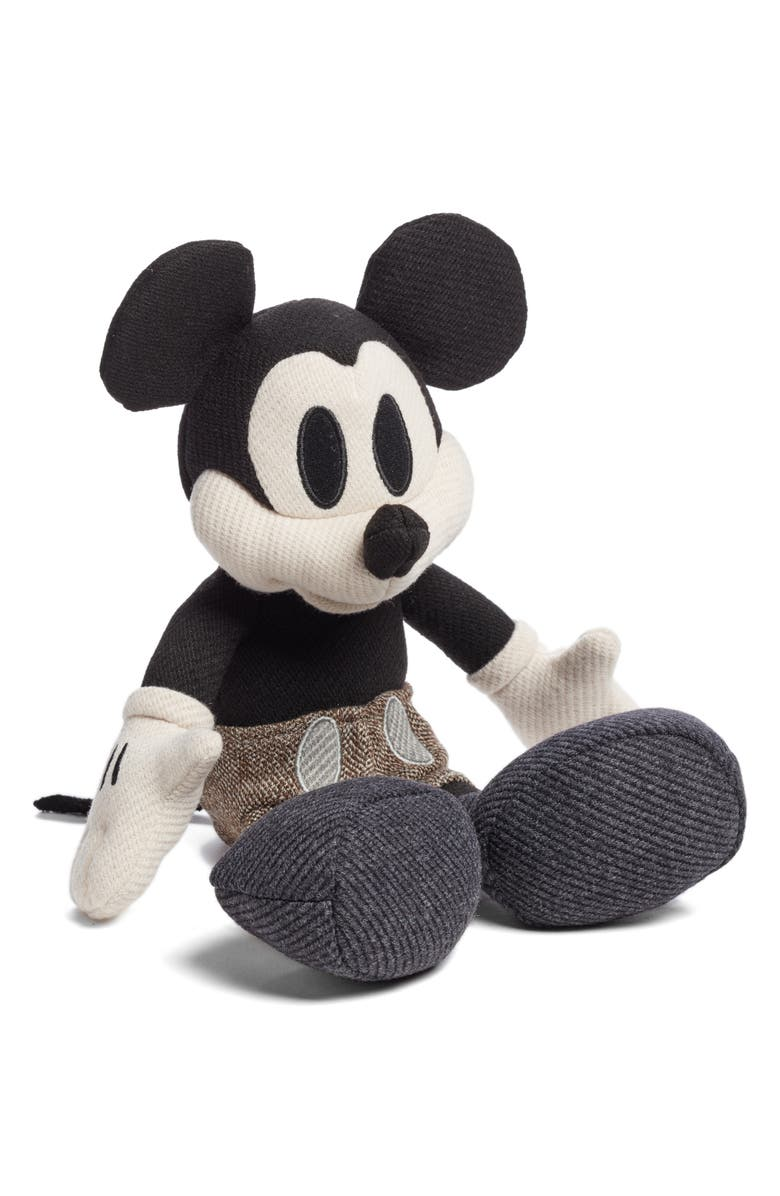 MAX-BONE Mickey Plush Dog Toy, Main, color, GREY MIX