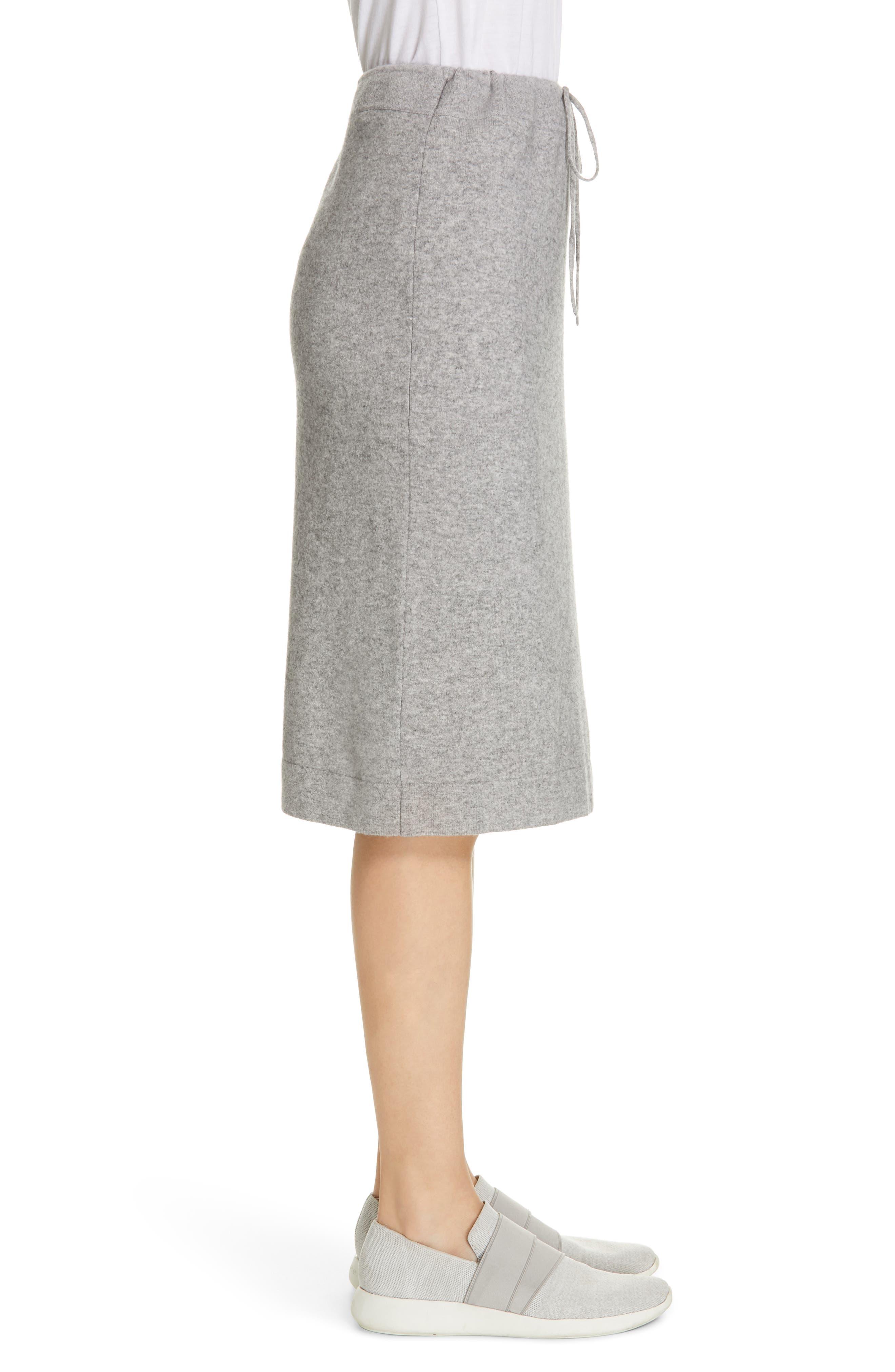 ,                             Knit Skirt,                             Alternate thumbnail 3, color,                             H STEEL