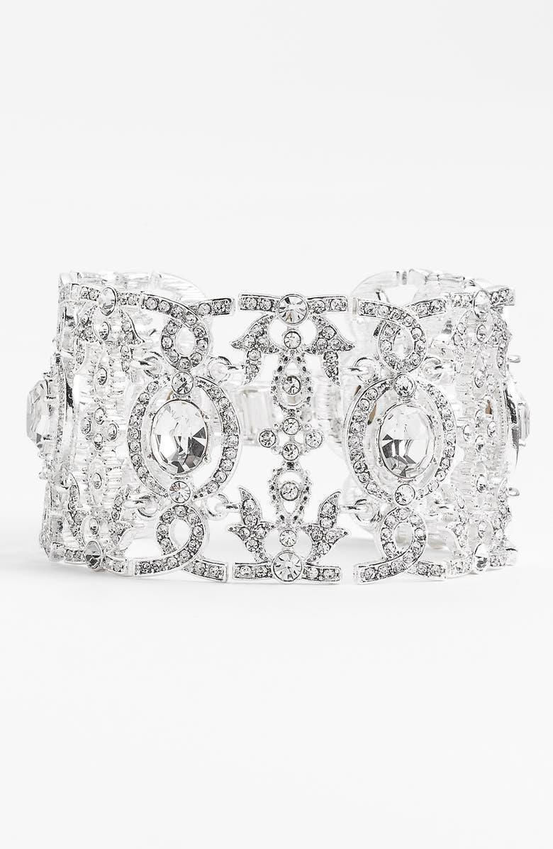 NINA 'Angelica' Wide Crystal Line Bracelet, Main, color, 040