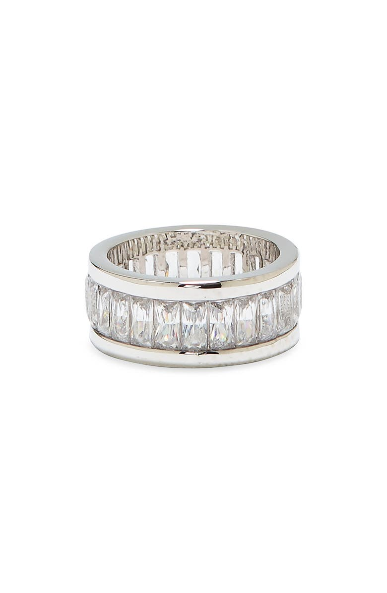VINCE CAMUTO Baguette Ring, Main, color, SILVER