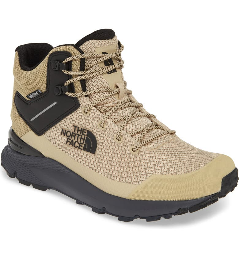THE NORTH FACE Val Mid Waterproof Hiking Boot, Main, color, MOJAVE DESERT TAN/ BLACK